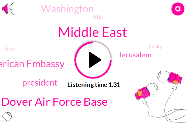 Middle East,Dover Air Force Base,American Embassy,President Trump,Jerusalem,Washington