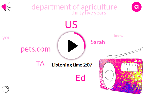 United States,ED,Pets.Com,TA,Sarah,Department Of Agriculture,Thirty Five Years