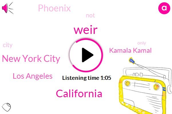 New York City,Los Angeles,California,Kamala Kamal,Phoenix,Weir