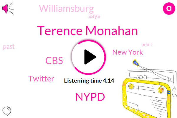 New York,Nypd,CBS,Terence Monahan,Twitter,Williamsburg