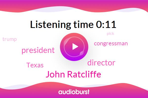 John Ratcliffe,Director,President Trump,Texas,Congressman