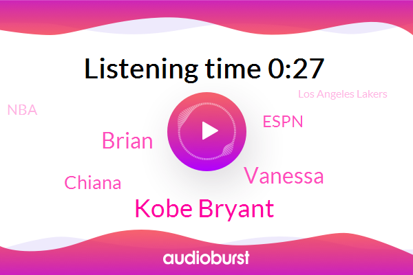 Kobe Bryant,Basketball,Espn,Vanessa,Brian,Chiana,NBA,Los Angeles Lakers