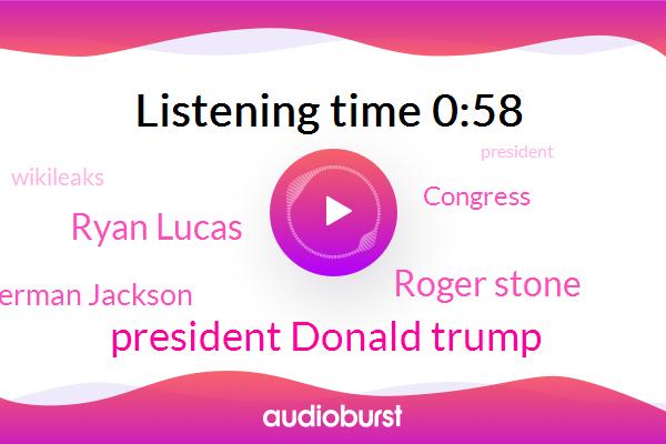 President Donald Trump,Roger Stone,NPR,Ryan Lucas,Washington,Amy Berman Jackson,President Trump,Congress,Wikileaks,Russia,Witness Tampering