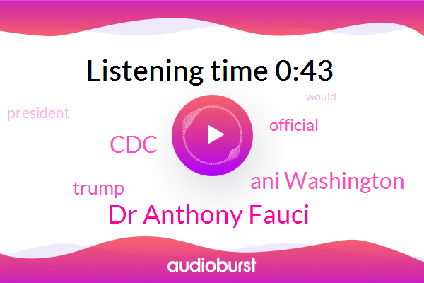 Official,Donald Trump,President Trump,Dr Anthony Fauci,AP,CDC,Ani Washington