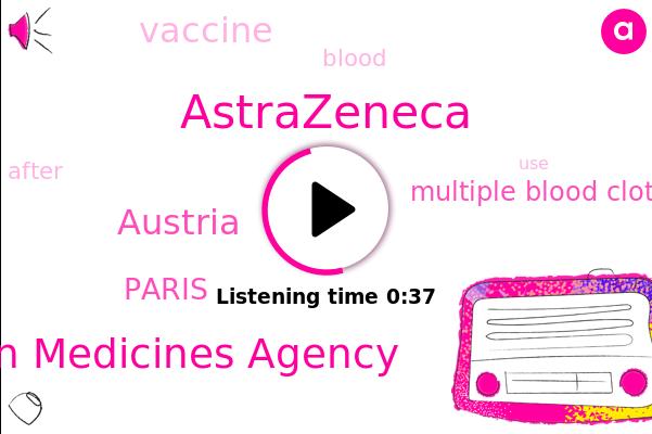 Astrazeneca,Multiple Blood Clots,Austria,European Medicines Agency,ABC,Paris