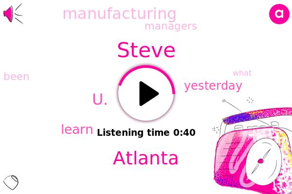 Atlanta,U.,Steve