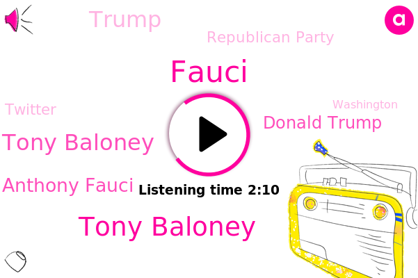 Tony Baloney,Donald Trump,Fauci,C. Tony Baloney,Washington,Dr. Anthony Fauci,Republican Party,Twitter