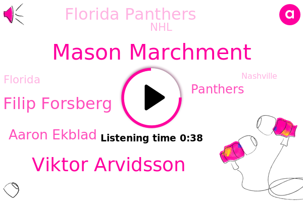 Mason Marchment,Florida Panthers,NHL,Viktor Arvidsson,Filip Forsberg,Florida,Golf,Aaron Ekblad,Panthers,Nashville