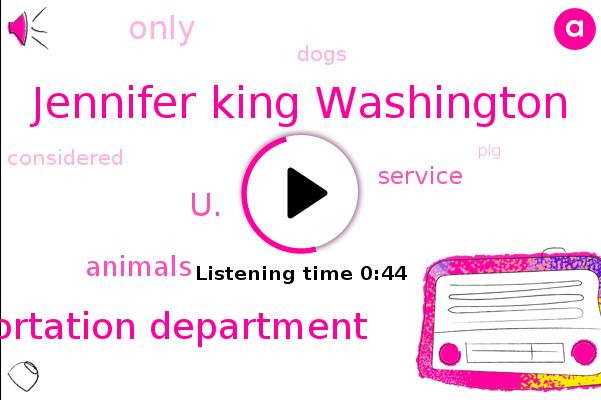 Transportation Department,U.,Jennifer King Washington