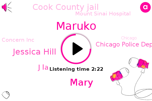 Chicago,Chicago Police Department,Chicago Tribune,Bipolar Disorder,Cook County,Cook County Jail,Attorney,Mount Sinai Hospital,Maruko,Concern Inc,Nbc News,Mary,Jessica Hill,J La