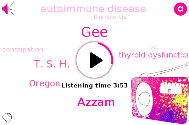 Thyroid Dysfunction,Autoimmune Disease,GEE,Thyroiditis,Azzam,Oregon,Constipation,T. S. H.
