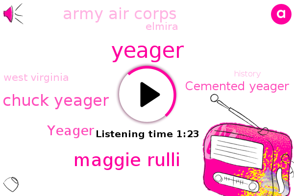 Yeager,Maggie Rulli,Chuck Yeager,Elmira,Army Air Corps,ABC,West Virginia,Cemented Yeager