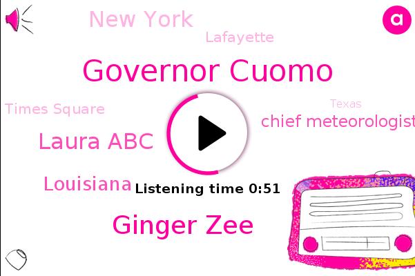 Louisiana,Governor Cuomo,Hurricane Delta,Ginger Zee,Chief Meteorologist,New York,Laura Abc,Lafayette,Times Square,Texas