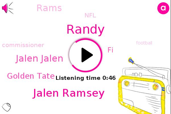 Jalen Ramsey,Jalen Jalen,Golden Tate,Rams,NFL,FI,Commissioner,Randy,Football