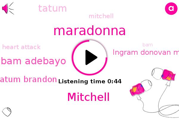 Bam Adebayo,Maradonna,Mitchell,Jason Tatum Brandon,Heart Attack,Ingram Donovan Mitchell,Tatum
