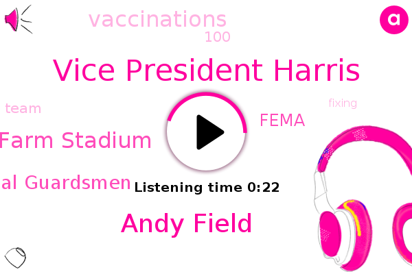 Vice President Harris,Arizona State Farm Stadium,National Guardsmen,Fema,Andy Field