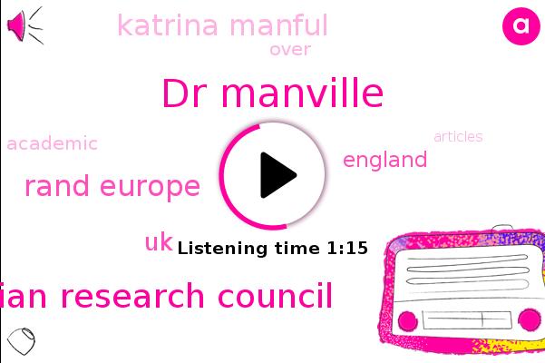 Katrina Manful,Dr Manville,Rand Europe,Australian Research Council,UK,England