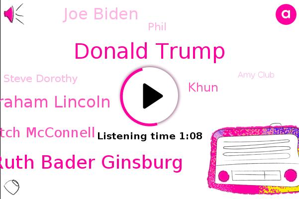 Donald Trump,U. S. Supreme Court,Justice Ruth Bader Ginsburg,President Trump,Abraham Lincoln,Mitch Mcconnell,Khun,Joe Biden,North Carolina,CNN,Senator,Senate,Phil,Steve Dorothy,Amy Club