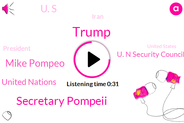 Iran,Donald Trump,Secretary Pompeii,Mike Pompeo,President Trump,United Nations,United States,FOX,U. N Security Council,China,U. S