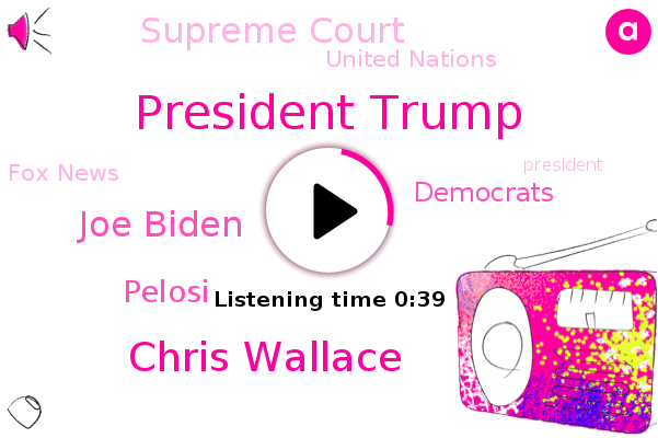 President Trump,Democrats,Chris Wallace,Joe Biden,Supreme Court,China,United Nations,Fox News,Pelosi