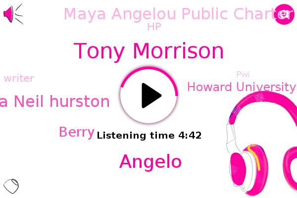 Tony Morrison,Howard University,Angelo,Maya Angelou Public Charter School,Zora Neil Hurston,Writer,PWI,Berry,HP