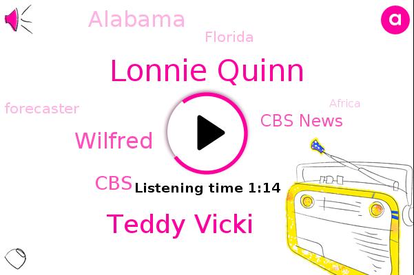 Lonnie Quinn,Forecaster,Hurricane Sally,Teddy Vicki,CBS,Cbs News,Africa,Wilfred,Bermuda,Southern Virginia,Alabama,Panhandle,New England,Georgia,Florida