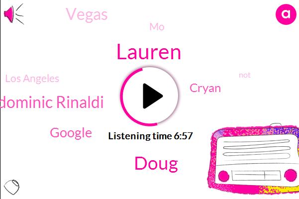 Doug,Vegas,Dominic Rinaldi,Lauren,Google,Cryan,MO,Los Angeles