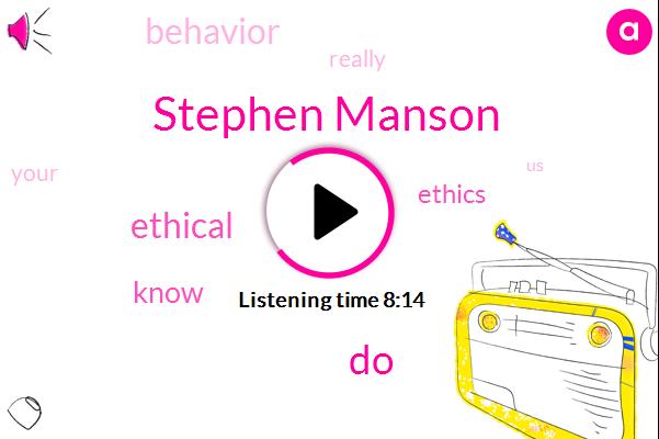 Stephen Manson