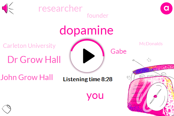 Dopamine,Dr Grow Hall,Dr John Grow Hall,Gabe,Researcher,Founder,Carleton University,Mcdonalds,Editor In Chief,Canada,Professor Kim Helman,Cocaine,Looney,Rushton,Vance