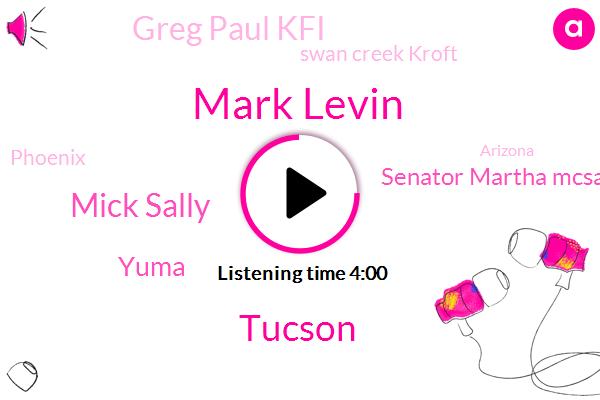 Mark Levin,Tucson,Mick Sally,Yuma,Senator Martha Mcsally,Greg Paul Kfi,Swan Creek Kroft,Phoenix,Arizona,Ryan Levine,Chief Meteorologist,Pima,KFI,Ken S,Mike,Oracle
