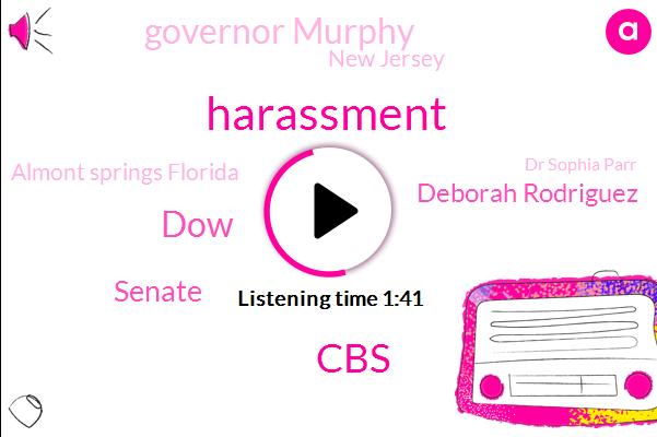 Harassment,CBS,DOW,Senate,Deborah Rodriguez,Governor Murphy,New Jersey,Almont Springs Florida,Dr Sophia Parr,India,George Falcone,Wegmans,Phil Murphy,London,Army,Britain,France,Europe