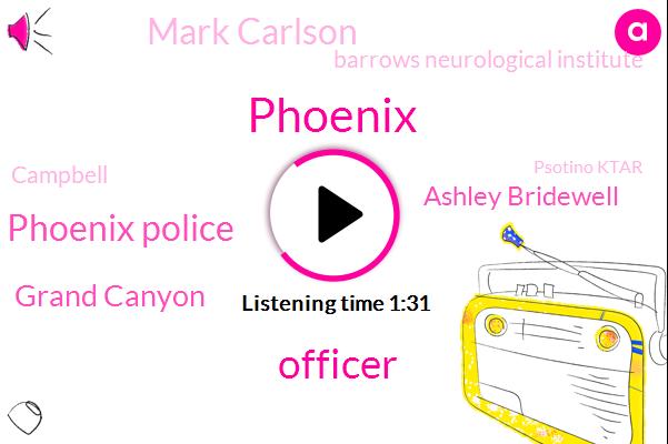 Phoenix,Officer,Phoenix Police,Grand Canyon,Ashley Bridewell,Mark Carlson,Barrows Neurological Institute,Campbell,Psotino Ktar
