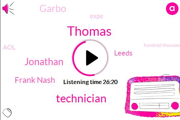 Thomas,Technician,Frank Nash,Leeds,Garbo,Expe,Jonathan,AOL,Hundred Thousand Dollar,Eight Years