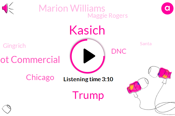 Kasich,Donald Trump,Marriot Commercial,Chicago,DNC,Marion Williams,Maggie Rogers,Gingrich,Santa