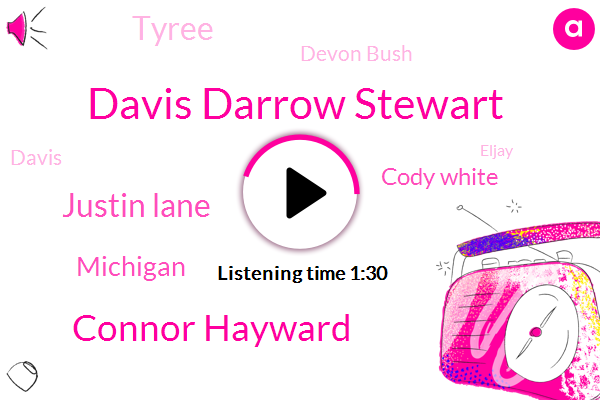Davis Darrow Stewart,Connor Hayward,Justin Lane,Michigan,Cody White,Tyree,Devon Bush,Davis,Eljay,Bryan,Felton,Brian
