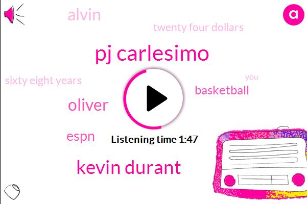 Pj Carlesimo,Kevin Durant,Oliver,Espn,Basketball,Alvin,Twenty Four Dollars,Sixty Eight Years