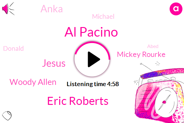Al Pacino,Eric Roberts,Jesus,Woody Allen,Mickey Rourke,Anka,Michael,Donald Trump,Abed,Algis,Popa Greenwich Village,Chino,JOE,Deniro,Michelman,AL,Apple,Mark,JIM