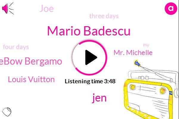 Mario Badescu,JEN,Lebow Bergamo,Louis Vuitton,Mr. Michelle,JOE,Three Days,Four Days