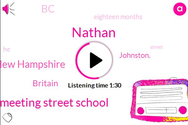 Nathan,Meeting Street School,New Hampshire,Britain,Johnston.,BC,Eighteen Months