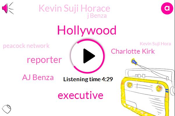 Hollywood,Executive,Reporter,Aj Benza,Charlotte Kirk,Kevin Suji Horace,J Benza,Peacock Network,Kevin Suji Hora,Chairman And Ceo,Time Warner,Warner Media,LEE,Ten Days