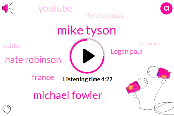 Mike Tyson,Michael Fowler,Nate Robinson,France,Logan Paul,Youtube,Fort Roy Jones,Twitter,Six Rounds,Josh,Floyd,Olympics,Facebook,Thirty,Today,April Third,Twenty Five Years Old,This Summer,Five Hundred Thousand Dollar,Instagram