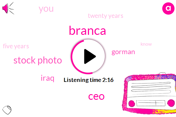 Branca,CEO,Stock Photo,Iraq,Gorman,Twenty Years,Five Years