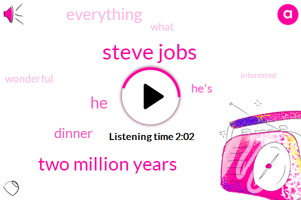 Steve Jobs,Two Million Years