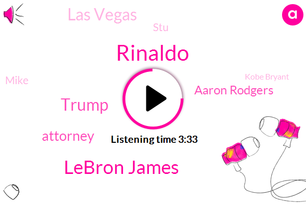 Rinaldo,Lebron James,Donald Trump,Attorney,Aaron Rodgers,Las Vegas,STU,Mike,Kobe Bryant,America,President Trump,Four Hundred Thousand Dollars,Ten Years,Ten Year