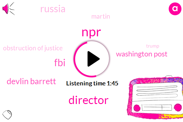 NPR,Director,FBI,Devlin Barrett,Washington Post,Russia,Martin,Obstruction Of Justice,Donald Trump,Official,James Colmey,President Trump,Robert Muller,United States,Special Counsel,Coleman,Washington,Retail Industry,South Sudan,Humanitarian Aid,Steve Inskeep,Patty Murray,Forty Eight Years