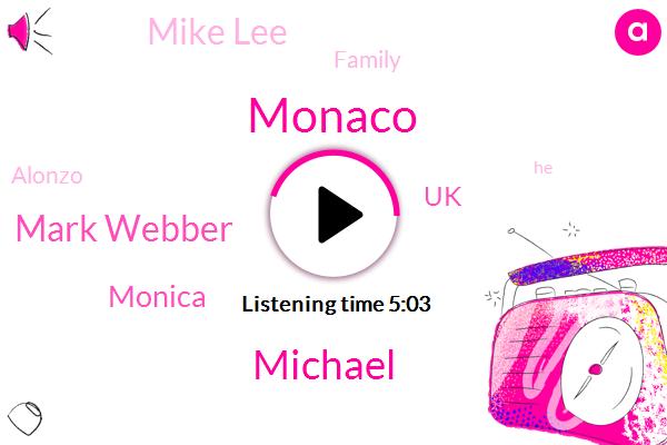 Michael,Monaco,Mark Webber,Monica,UK,Mike Lee,Family,Alonzo,Zonta Ricardo,Adam,Weber,One Percent