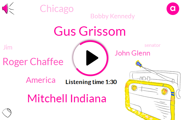 Gus Grissom,Mitchell Indiana,Roger Chaffee,America,John Glenn,Chicago,Bobby Kennedy,JIM,Senator,Martin Luther