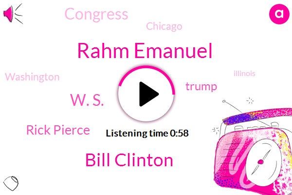 Rahm Emanuel,ABC,Washington,Assault,Bill Clinton,W. S.,Illinois,Gilroy California,WGN,Rick Pierce,Donald Trump,Congress,Chicago,President Trump,Four Weeks,Two Weeks