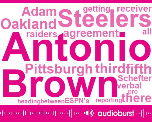 Antonio Brown,Pittsburgh Steelers,Oakland Raiders,Oakland,Adam Schefter,Raiders,Espn,NFL,Pittsburgh,Jeremy Fowler,Stephen,Tony,Bill,Levy,Reporter,Official,Las Vegas,One Two Five Million Dollars