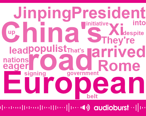 President Xi Jinping,China,Italy,Rome,Middle East,Europe,United States,Germany